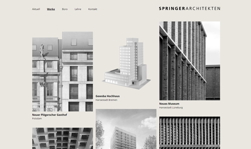 Website-Erstellung Springer Architekten